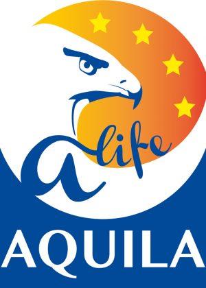 "Logotipo Aquila a-life – programa europeo ""life"""
